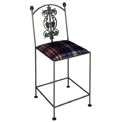Grace Vineyard Bar Side Chair - Fabric: Storm, Finish: Jade Patina at Sears.com