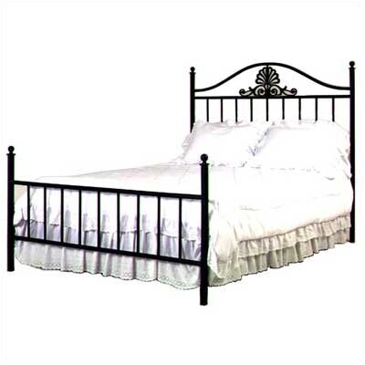Panel Bed Size: Twin, Color: Gun Metal