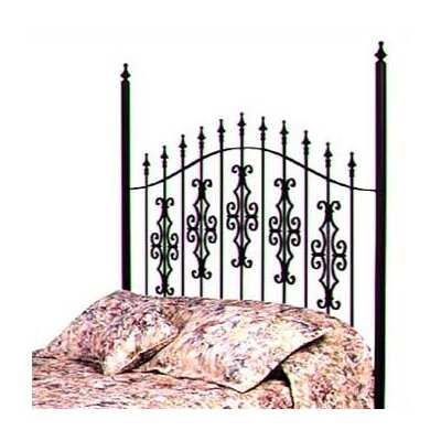 Gothic Gate Slat Headboard Finish: Satin Black, Size: Twin