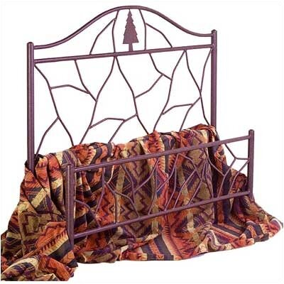 Twig Open-Frame Headboard Size: Queen, Color: Gun Metal