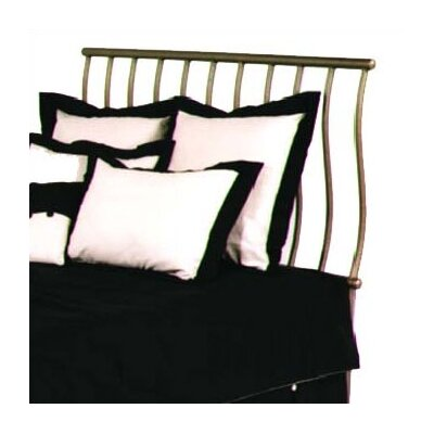 Sleigh Slat Headboard Size: Twin, Color: Satin Black