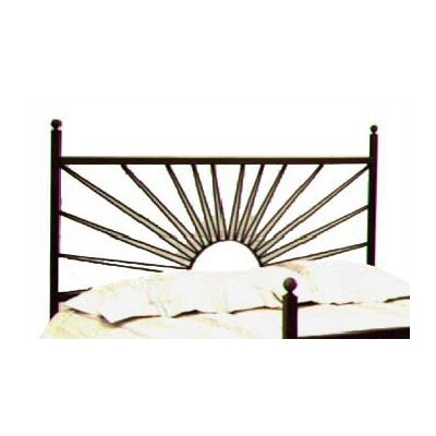 El Sol Open-Frame Headboard Size: Twin, Color: Gun Metal