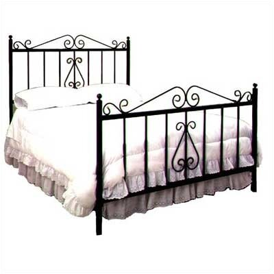 Karol Panel Bed Size: Full, Color: Satin Black