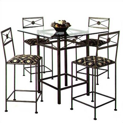 """(metal cafe table) Grace 42"""" Square Neoclassic Bar Table"""