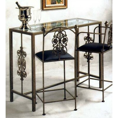 Garden Counter Height Dining Table Finish Aged Iron