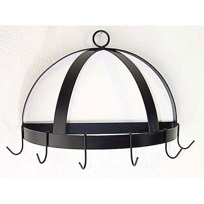 Half Dome Wall Mounted Pot Rack Finish: Antique Bronze HDR-20-BR