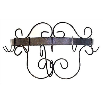 Half Round Wall Mounted Pot Rack Finish: Antique Bronze HR20-CR-BR
