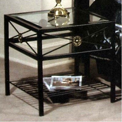Neoclassical Nightstand Finish: Satin Black