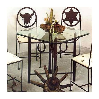 In store financing Horseshoe Dining Table Finish: Anti...