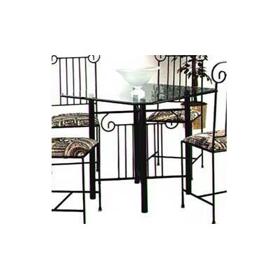 Roman Column Dining Table Base Finish: Satin Black