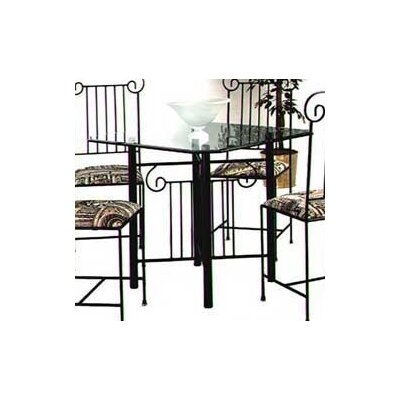 Roman Column Dining Table Finish: Satin Black