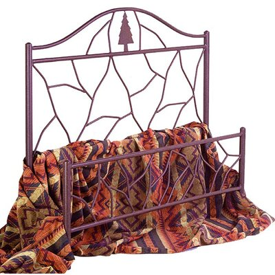 Panel Bed Size: Twin, Color: Antique Bronze
