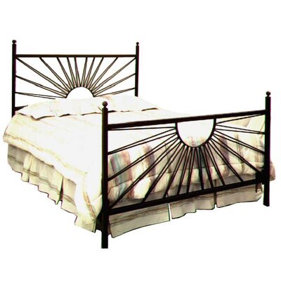 Panel Bed Size: Twin, Color: Burnished Copper