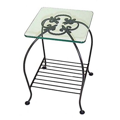 Venetian End Table Metal Color: Satin Black