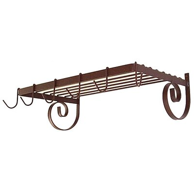 Wall Mount Shelf Pot Rack Finish: Antique Bronze WR24 (BR)
