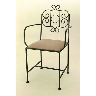 """Grace French 18"""" Bar Side Chair - Fabric: Nutmeg, Finish: Aged Iron at Sears.com"""