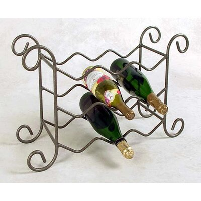9 Bottle Tabletop Wine Rack Finish: Satin Black