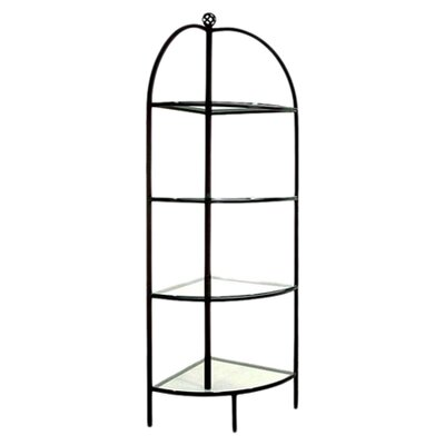 Corner Bakers Rack Finish: Satin Black