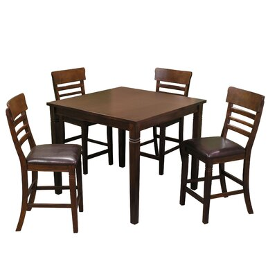 Grothe 5 Piece Counter Height Dining Set