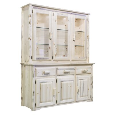 Abordale Lighted China Cabinet Top Color: Lacquered