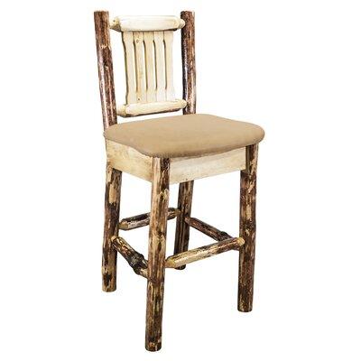 Tustin 30 Cabin Bar Stool Upholstery: Buckskin