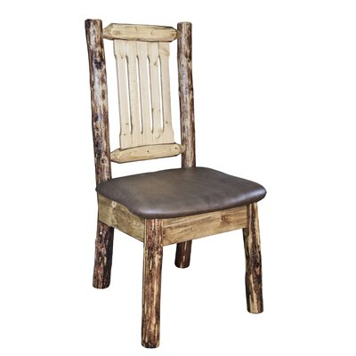 Tustin Dining Side Chair Upholstery: Saddle