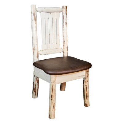 Abordale Natural Side Chair Upholstery: Saddle