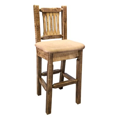 Homestead 30 inch Bar Stool Upholstery: Buckskin