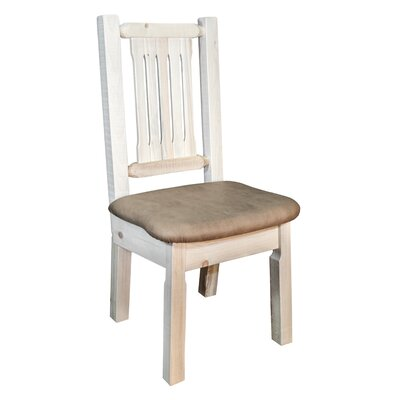 Abella Slat Back Side Chair Upholstery: Buckskin