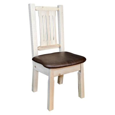 Abella Slat Back Side Chair Upholstery: Saddle