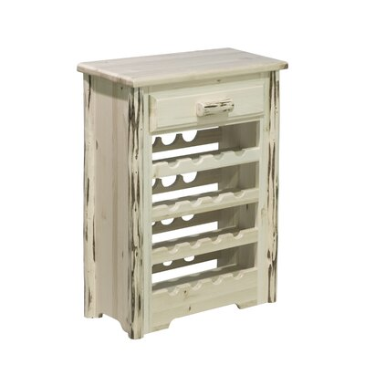 Abordale 16 Bottle Floor Wine Rack Finish: Lacquered