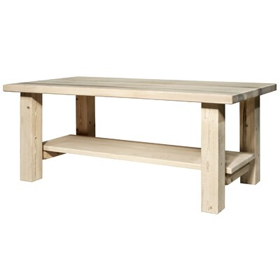 Homestead Coffee Table with Shelf Finish: Lacquered