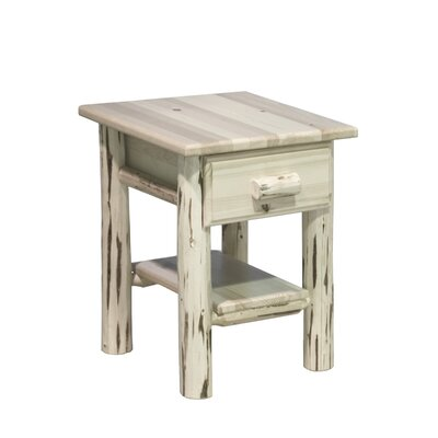 Abordale 1 Drawer Nightstand Color: Lacquered