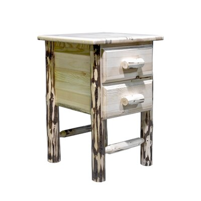 Montana 2 Drawer Nightstand Finish: Lacquered