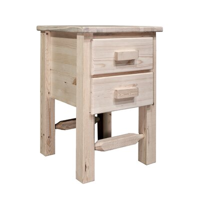Abella 2 Drawer Nightstand Finish: Lacquered