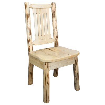 Abordale Slat Back Solid Wood Dining Chair Finish: Lacquered