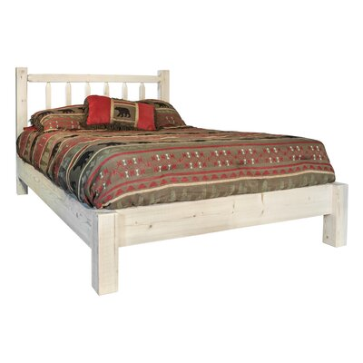 Homestead Platform Bed Finish: Stain/Clear Lacquer, Size: California King