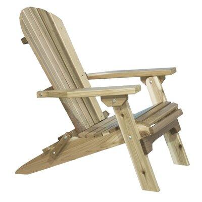 Loon Peak Abordale Solid Wood Folding Adirondack Chair Finish: Ready To Finish