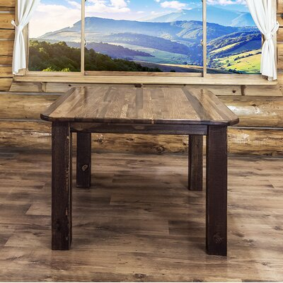 Homestead Dining Table Finish: Stained and Lacquered, Size: 30 inch H x 45 inch W x 45 inch D