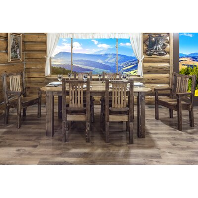 Abella Rustic Dining Table Finish: Stained and Lacquered