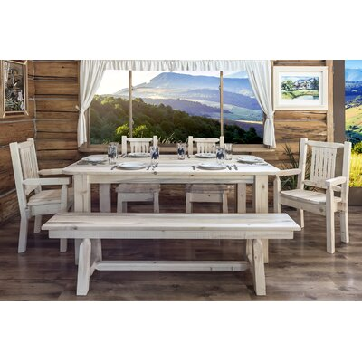 Abella Rustic Dining Table Finish: Lacquered