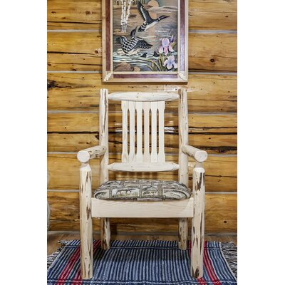 Abordale Arm Chair Upholstery: Wildlife, Finish: Ready to Finish