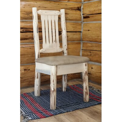 Abordale Natural Side Chair Upholstery: Buckskin