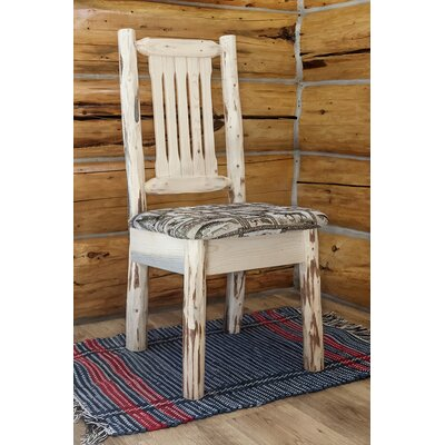 Abordale Natural Side Chair Upholstery: Buckskin, Finish: Clear Lacquer