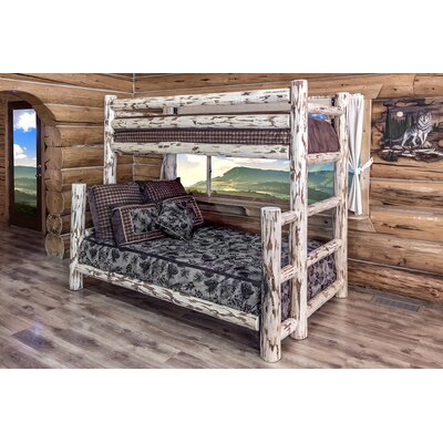 Abordale Twin over Full Bunk Bed Color: Ready To Finish