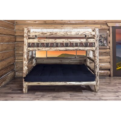 Montana Twin over Full Futon Bunk Bed Finish: Clear Lacquer