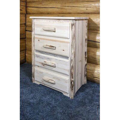 Montana 4 Drawer Chest Finish: Unfinished