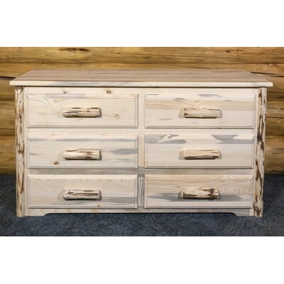 Montana 6 Drawer Dresser Finish: Unfinished