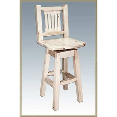 "Homestead 30"" Swivel Bar Stool Finish: Ready to Finish MWHCBSWSNR"