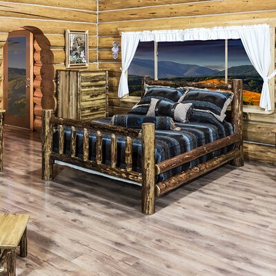 Montana Woodworks Glacier Country Panel Customizable Bedroom Set - Size: Twin